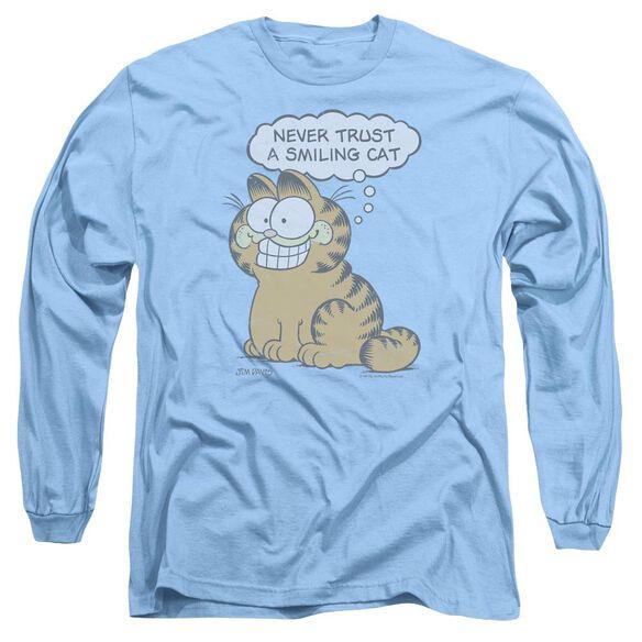 GARFIELD SMILING CAT - L/S ADULT 18/1 - CAROLINA BLUE T-Shirt