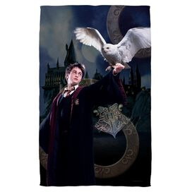 Harry Potter Harry And Hedwig Towel White