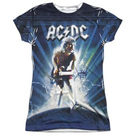 Acdc Lightning Short Sleeve Junior Poly Crew T-Shirt