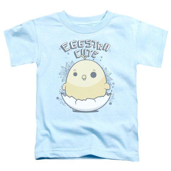 Eggstra Cute Short Sleeve Toddler Tee Light Blue T-Shirt