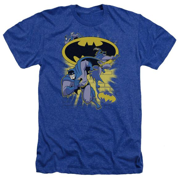 Batman Bb Action Collage Adult Heather Royal