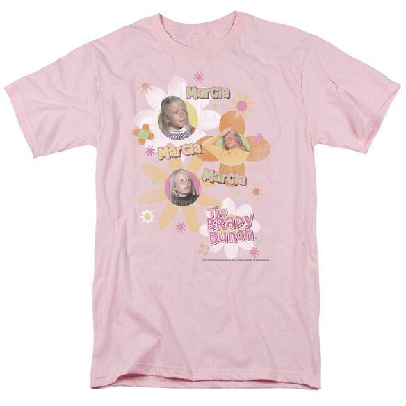 Brady Bunch Marcia Marcia Marcia Short Sleeve Adult Lavendar T-Shirt