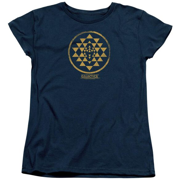Bsg Gold Squadron Patch Short Sleeve Womens Tee T-Shirt