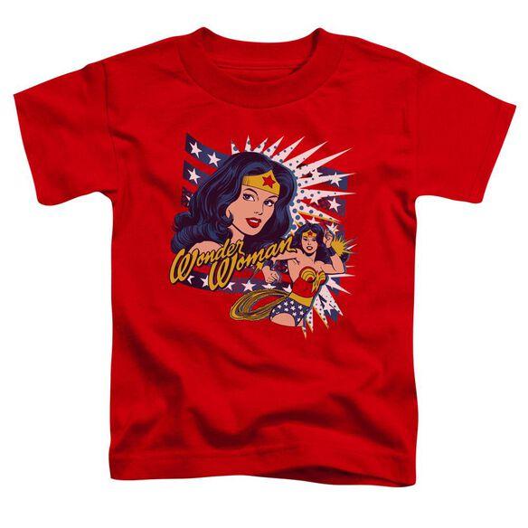 Dco Pop Art Wonder Short Sleeve Toddler Tee Red Md T-Shirt