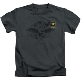 Army Left Chest Short Sleeve Juvenile Charcoal T-Shirt