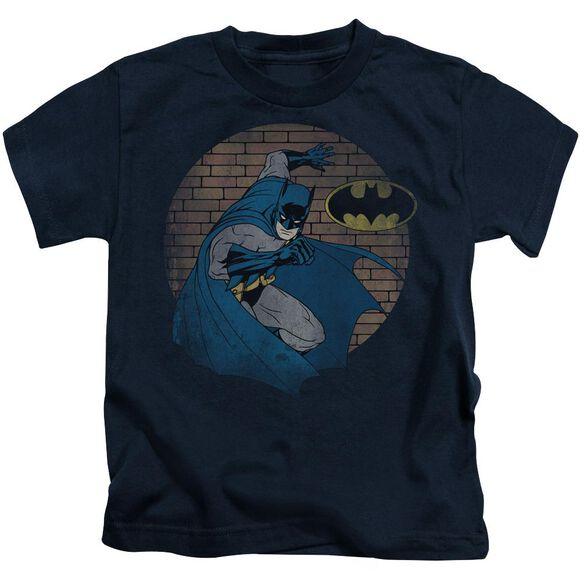Batman In The Spotlight Short Sleeve Juvenile Navy T-Shirt