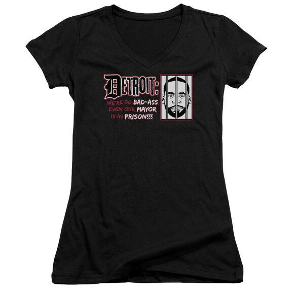 Bad Ass Junior V Neck T-Shirt