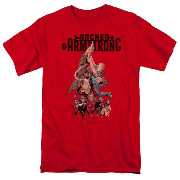Archer & Armstrong Hang In There Short Sleeve Adult T-Shirt