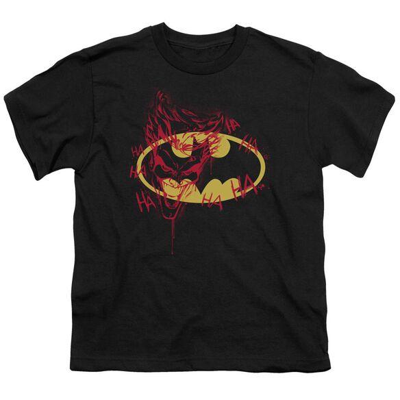 Batman Joker Graffiti Short Sleeve Youth T-Shirt