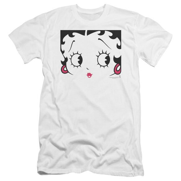Betty Boop Close Up Premuim Canvas Adult Slim Fit