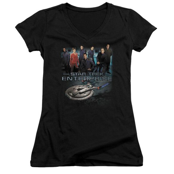 Star Trek Enterprise Crew - Junior V-neck - Black