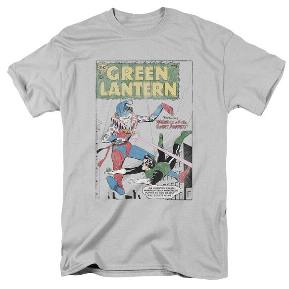 Green Lantern Puppet Menace Short Sleeve Adult Silver T-Shirt