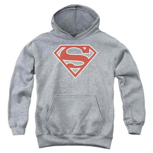 Superman Crimson & Cream Shield Youth Pull Over Hoodie Athletic