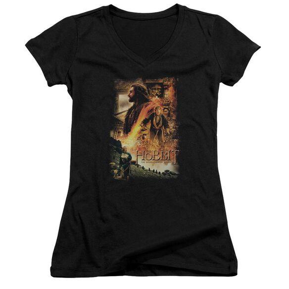 Hobbit Golden Chamber Junior V Neck T-Shirt