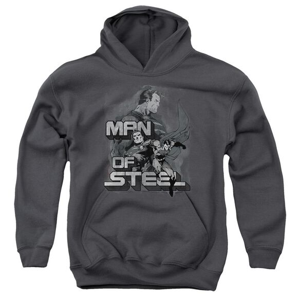 Superman Steel Poses Youth Pull Over Hoodie