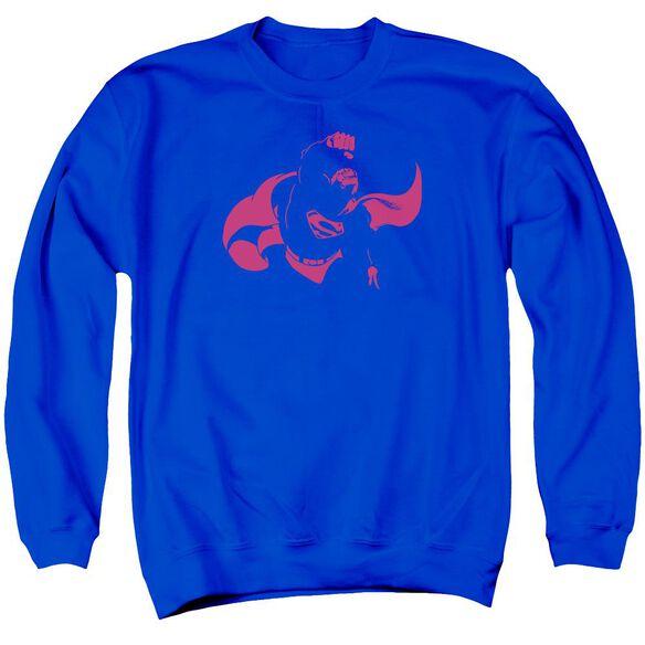 Dc Super Min Adult Crewneck Sweatshirt Royal