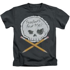 Teachers Fear Me Short Sleeve Juvenile Charcoal Md T-Shirt