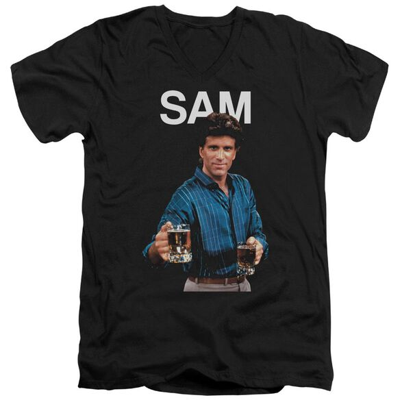 Cheers Sam Short Sleeve Adult V Neck T-Shirt