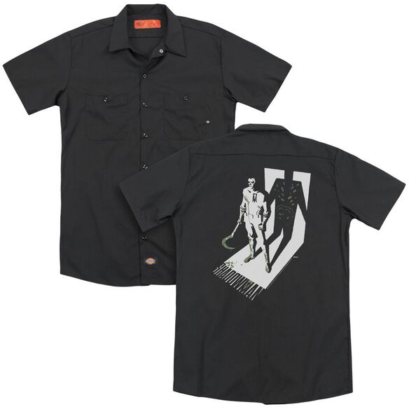 Shadowman Grim Shadow(Back Print) Adult Work Shirt