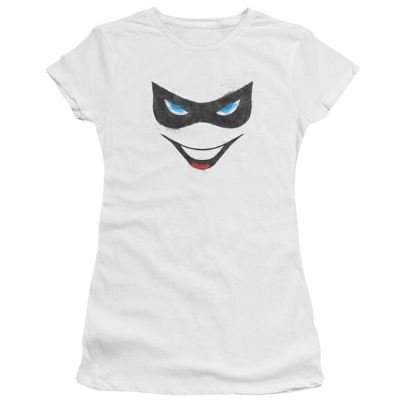 BATMAN HARLEY FACE - S/S JUNIOR SHEER - WHITE T-Shirt