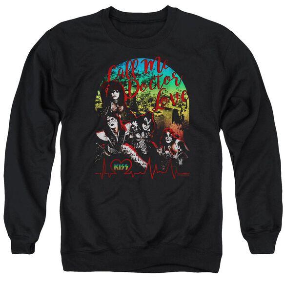 Kiss Doctor Love Adult Crewneck Sweatshirt