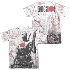Bloodshot Tactical (Front Back Print) Adult Poly Cotton Short Sleeve Tee T-Shirt
