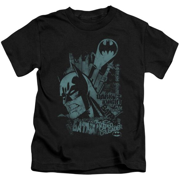 Batman Gritted Teeth Short Sleeve Juvenile Black T-Shirt