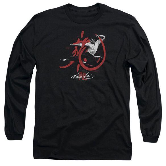 Bruce Lee High Flying Long Sleeve Adult T-Shirt