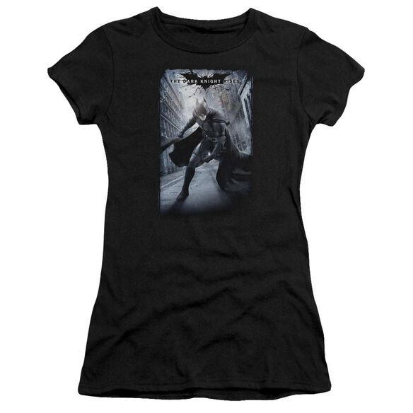 Dark Knight Rises Crumbled Poster Short Sleeve Junior Sheer T-Shirt