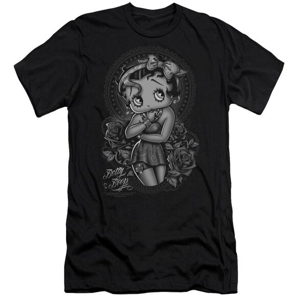 Betty Boop Fashion Roses Short Sleeve Adult T-Shirt