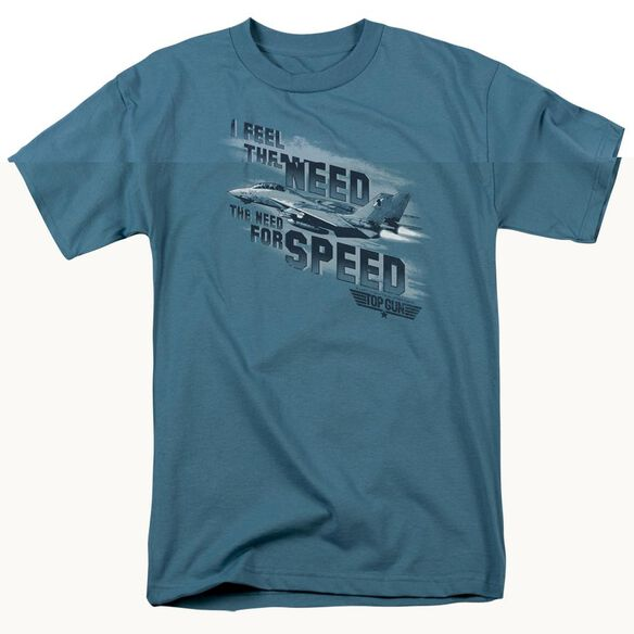 TOP GUN NEED FOR SPEED - S/S ADULT 18/1 - SLATE T-Shirt