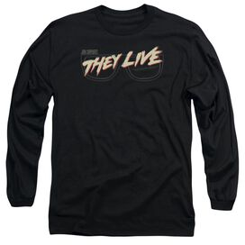 They Live Glasses Logo Long Sleeve Adult T-Shirt