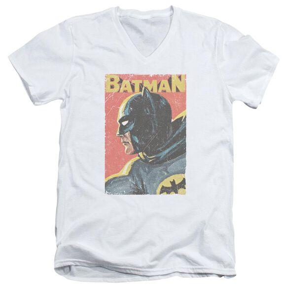 Batman Classic Tv Vintman Short Sleeve Adult V Neck T-Shirt