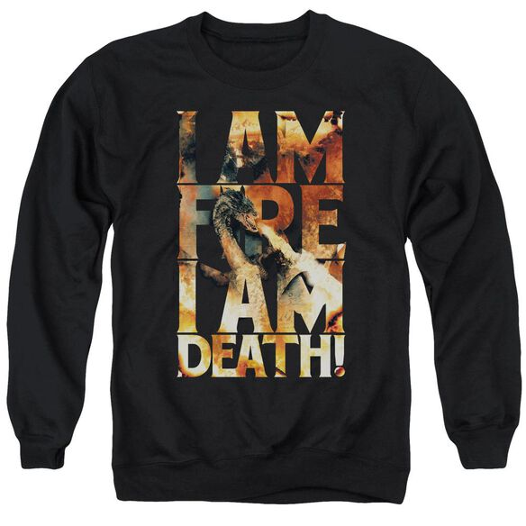 Hobbit I Am Fire Adult Crewneck Sweatshirt