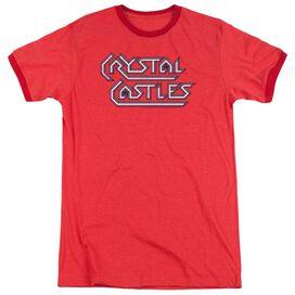 Atari Crystal Castles Logo Adult Heather Ringer Red