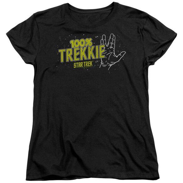 Star Trek Trekkie Short Sleeve Womens Tee T-Shirt
