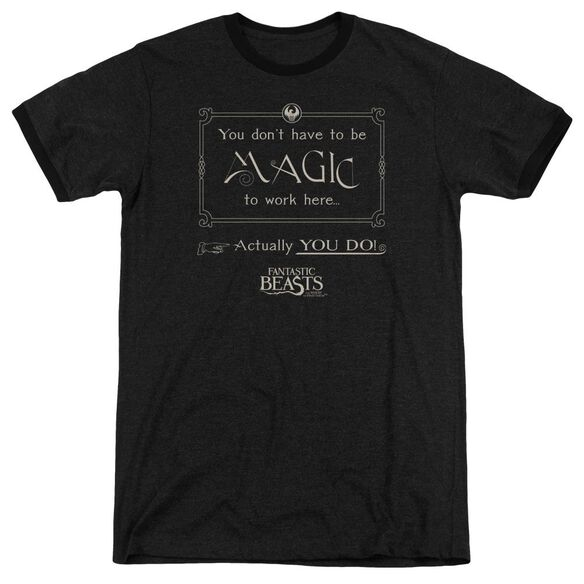 Fantastic Beasts Magic To Work Here Adult Ringer