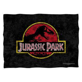 Jurassic Park Classic Logo Pillow Case White