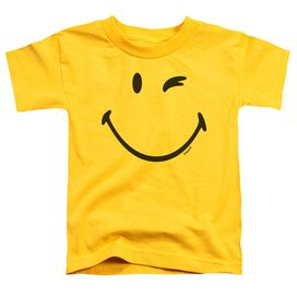Smiley World Big Wink Short Sleeve Toddler Tee Yellow T-Shirt