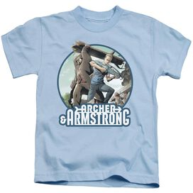 Archer & Armstrong Trunk And Crossbow Short Sleeve Juvenile Light T-Shirt