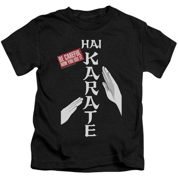 Hai Karate Be Careful Short Sleeve Juvenile Black T-Shirt