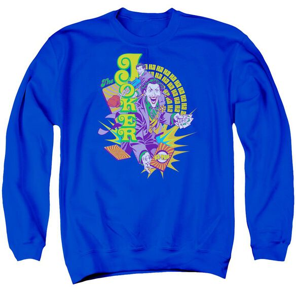 Dc Raw Deal Adult Crewneck Sweatshirt Royal