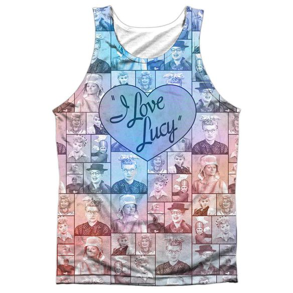 I Love Lucy Many Moods Adult Poly Tank Top