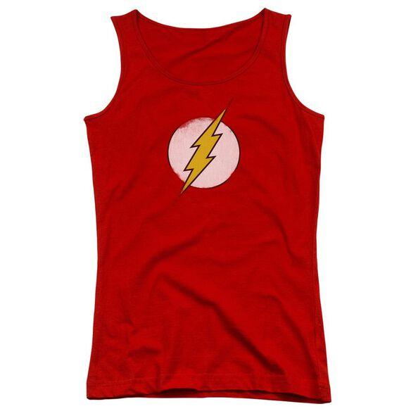 Dc Flash Rough Flash Logo Juniors Tank Top