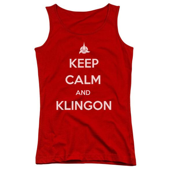 Star Trek Calm Klingon Juniors Tank Top