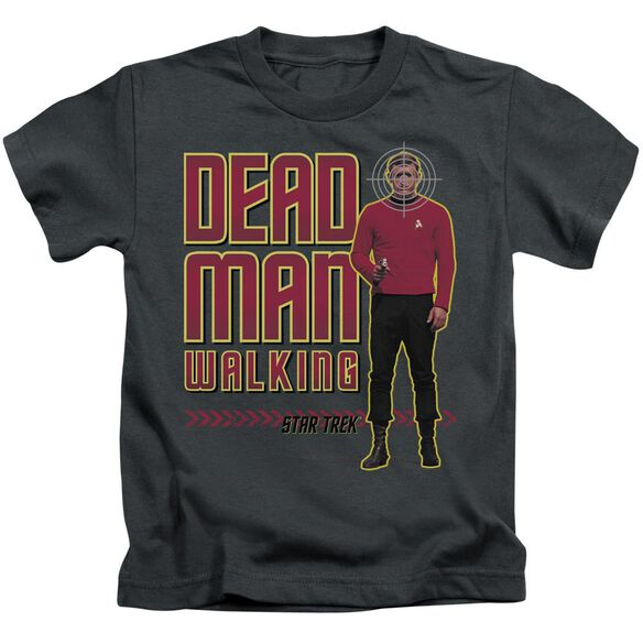 Star Trek Dead Man Walking Short Sleeve Juvenile Charcoal T-Shirt