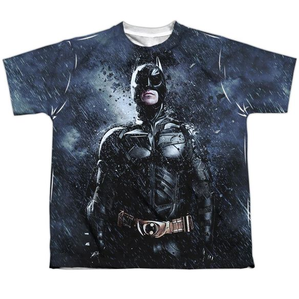 Dark Kngith Rises Stormy Knight Short Sleeve Youth Poly Crew T-Shirt
