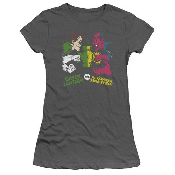Dc Gl Vs Sinestro Short Sleeve Junior Sheer T-Shirt
