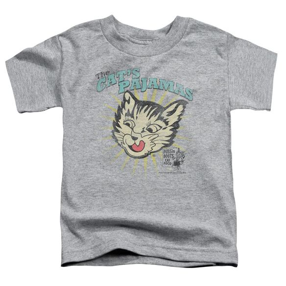 Puss N Boots Cats Pajamas Short Sleeve Toddler Tee Athletic Heather Md T-Shirt