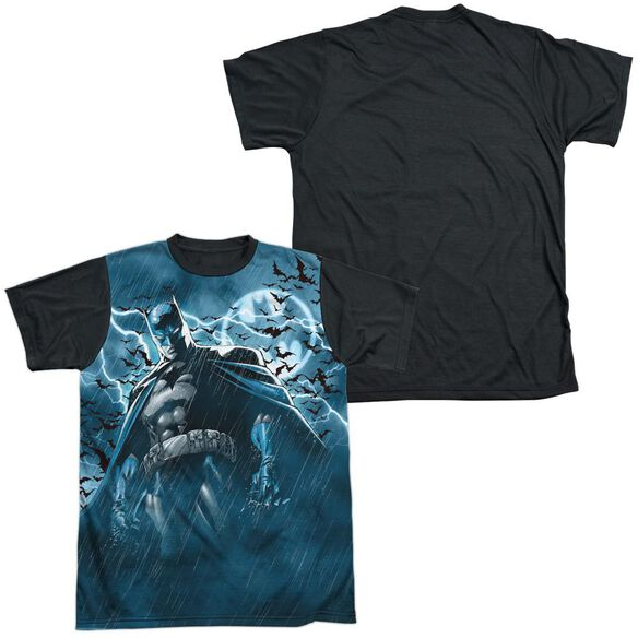 Batman Stormy Knight Short Sleeve Adult Front Black Back T-Shirt